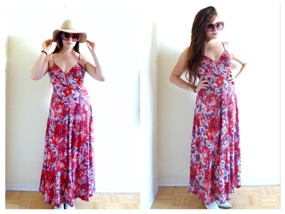 And finally, from WILDTHINGVINTAGE, the perfect 1970s spaghetti strap Maxi.